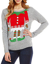 So It Is Christmas Elf Crewneck Pullover Sweater