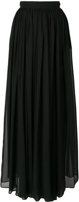 Elie Saab Long Pleated Skirt