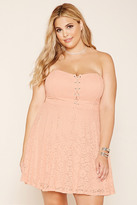 Forever 21 FOREVER 21+ Plus Size Strapless Lace Dress