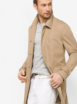 Michael Kors Stretch-Cotton Sateen Trench Coat