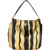 Prada nappa gold and black leather bag
