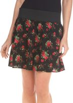 Copper key elastic-waist skirt