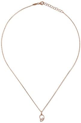 As 29 14kt rose gold diamond Nine necklace