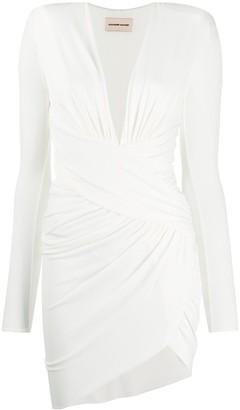 Alexandre Vauthier Ruched Wrap Mini Dress
