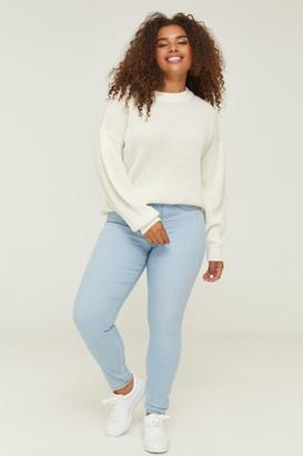 Ardene Plus Size High Rise Slip-on Jeans