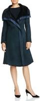 Armani Collezioni Taffeta-Trimmed Shearling Coat