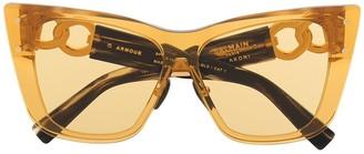 Balmain Eyewear x Akoni chain-arm sunglasses