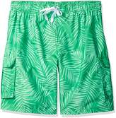 Kanu Surf Men's Big Palma Extended Size Leaf Volley Swim Trunk