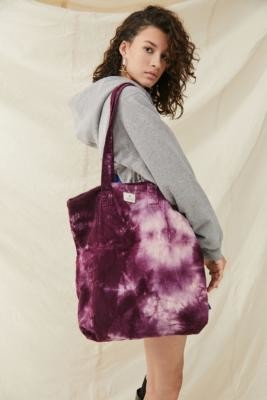 Urban Outfitters Tie-Dye Corduroy Tote - Purple ALL at