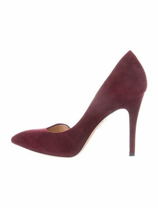 Charlotte Olympia Suede D'Orsay Pumps