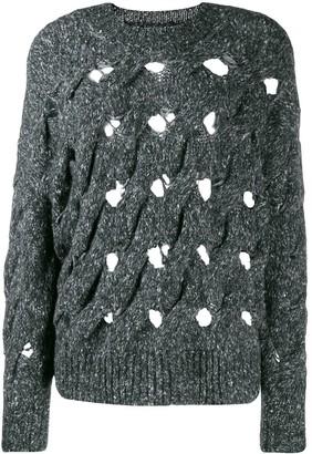 Etoile Isabel Marant distressed oversized knitted sweater