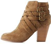 Charlotte Russe Strappy Buckled Ankle Booties