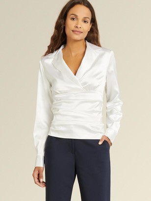 DKNY Long Sleeve Ruched Top