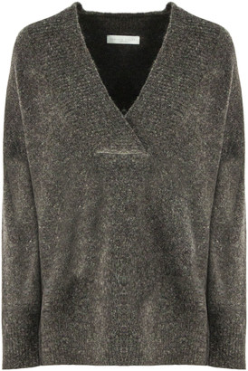 Fabiana Filippi Grey Virgin Wool-alpaca Wool Blend Jumper