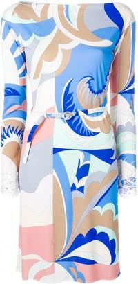Emilio Pucci Acapulco Print Embroidered Dress