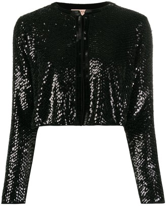 Twin-Set Sequin Mesh Cardigan