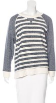 Mother Striped Scoop Neck Sweater