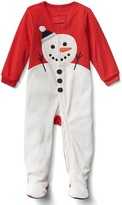 Gap Snowman footed sleep one-piece