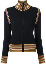 Tory Burch zipped cardigan - women - Polyamide/Spandex/Elastane/Wool - M