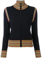 Tory Burch zipped cardigan - women - Wool/Polyamide/Spandex/Elastane - S