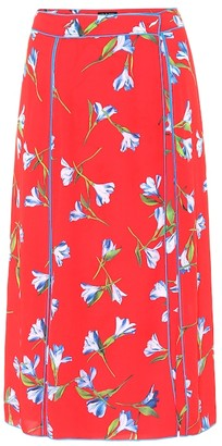 Rag & Bone Hugo floral crepe midi skirt
