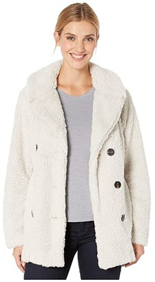 True Grit Dylan by Teddy Sherpa Peacoat (Natural) Women's Clothing