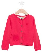 Burberry Girls' Long Sleeve Button-Up Cardigan