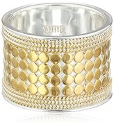 "Anna Beck Designs ""Gili"" Wire-Rimmed 18k Gold-Plated Ring, Size 7"