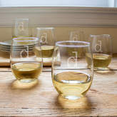 Cathy's Concepts Cathys concepts 6-pc. Monogram Stemless Wine Glass Set