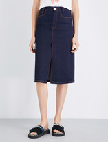 See by Chloe A-line stretch-denim midi skirt