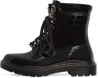 Casadei 30MM CHAINED PVC ANKLE BOOTS