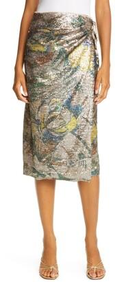 le superbe Paradise Floral Sequin Wrap Skirt