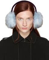 Carven Blue Faux-fur Ear Muffs