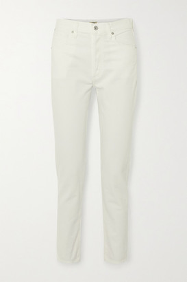 Citizens of Humanity Liya High-rise Straight-leg Jeans - White
