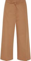 Rochas Cropped cotton-blend straight-leg pants