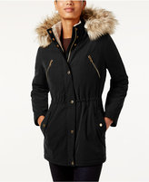 Nautica Faux-Fur-Trim Hooded Parka, A Macy's Exclusive