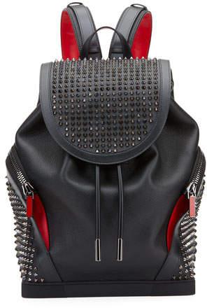 eb276e7da8f Men's Basic Studded Leather Backpack