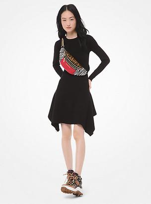 Michael Kors Wool-Blend Handkerchief Dress