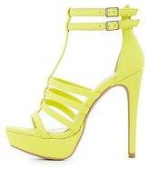 Charlotte Russe Strappy Platform Dress Sandals