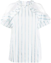 RED Valentino point d'Esprit striped blouse