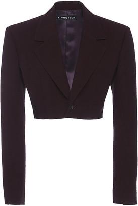Y/Project Cropped Wool Blazer