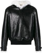 Saint Laurent - pull over jacket - men - Leather/Sheep Skin/Shearling/Polyamide/Wool - 46
