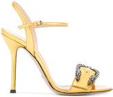 Gucci metallic Dionysus sandals