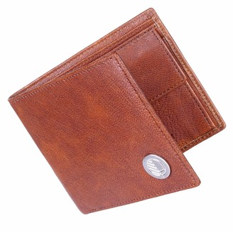 Drew Lennox Luxury English Leather Mens Billfold Wallet In Rustic Brown