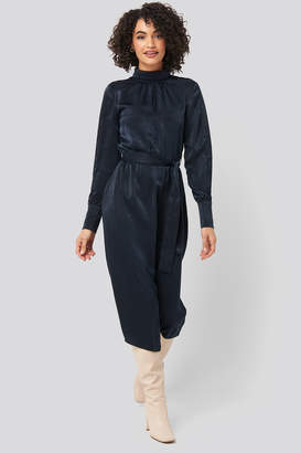 Trendyol Waist Belted Midi Dress Blue