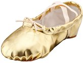 Msmushroom Woman's Pu Ballet Dance Shoes with Split Soft Sole