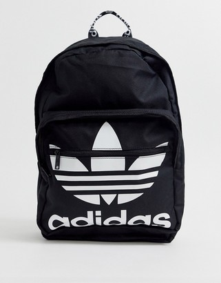 adidas trefoil backpack in black
