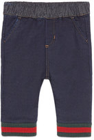 Gucci Denim Track Pants, Indigo, Size 6-36 Months