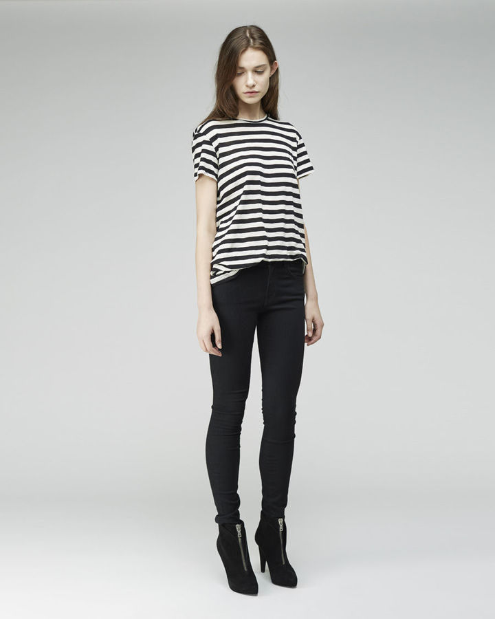 Proenza Schouler Striped Tissue Tee