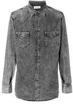 Saint Laurent Men's Grey Cotton Shirt.